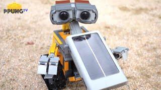 getlinkyoutube.com-LEGO 21303 Real Solar-powered Wall-E MOD review by 뿡대디