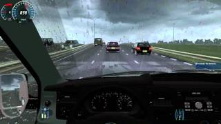 getlinkyoutube.com-City Car Driving - High speed driving with Ford Transit Van