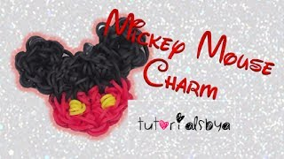 getlinkyoutube.com-1 LOOM Mickey Mouse Rainbow Loom Charm Tutorial