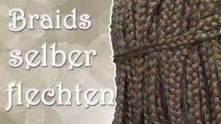 getlinkyoutube.com-Tutorial: Braids/Rasta selber flechten || haareflechten