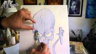 getlinkyoutube.com-Airbrush Effects - Episode 19 Übertragungstechnik 01