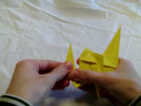How to fold an Origami camel