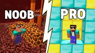getlinkyoutube.com-How to go from NOOB to PRO in just 9 SECONDS! (Minecraft Parkour)