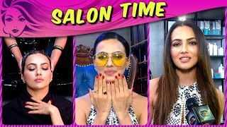 Sana Khan Gives Us HAIR CARE And STYLING Tips | Salon Time | TellyMasala