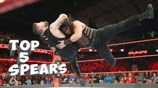Top 5 Roman Reigns Spears of 2017