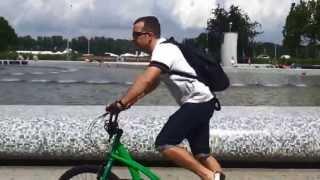 Stepperbike w Parku Fontann w Warszawie - czerwiec 2013