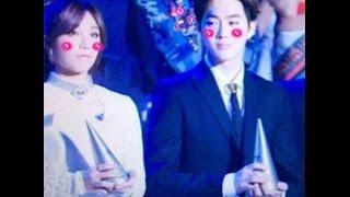getlinkyoutube.com-161119 Suho Eunji Moment  Melon music awards 2016