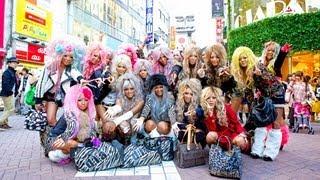 getlinkyoutube.com-Gyaru Interview - Japanese Kuro Gyaru Unit Black Diamond in Shibuya