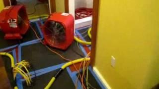getlinkyoutube.com-How To Dry Wet Walls, Hardwood Floor Drying, Water damage Acton Concord Sudbury Harvard MA