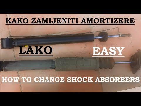 KAKO ZAMIJENITI ZADNJE AMORTIZERE/How to change rear shock absorbers