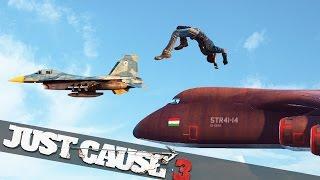 getlinkyoutube.com-BACK FLIP ONTO A FLYING PLANE! :: Just Cause 3 Multiplayer Stunts!