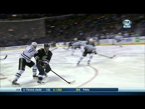 Vladimir Sobotka human torpedo wrist shot goal 1-0 Dallas Stars vs St. Louis Blues 11/23/13 NHL