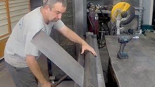 Home made Sheetmetal Brake - Metal Bender - enhancements