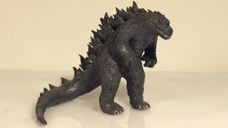 getlinkyoutube.com-How to make GODZILLA Polymer Clay (Godzilla 2014)