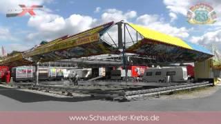getlinkyoutube.com-Aufbau des Autoscooter Route66 von Schausteller Krebs