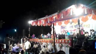 getlinkyoutube.com-Arbind Akela Kallu Superhit Bhojpuri Vivah Geet Stage Show in Simri Mahotsav (Buxar)