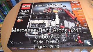 getlinkyoutube.com-Unboxing: LEGO Mercedes-Benz Arocs 3245 (Set 42043 Technic deutsch)