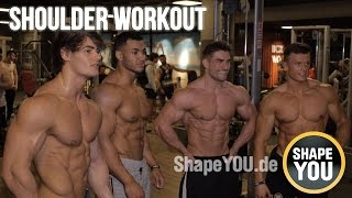 getlinkyoutube.com-Upgrade For Your Shoulder Workout by Jeff Seid, Justin St Paul, Ryan Terry, Felix Valentino