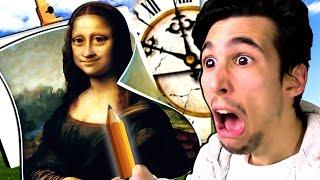 getlinkyoutube.com-DISEGNARE LA MONNA LISA IN 20 SECONDI?! | Quick, Draw!