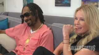 getlinkyoutube.com-Funny! Chelsea Handler smokes weed with Snoop Dogg, snacks on dog food.