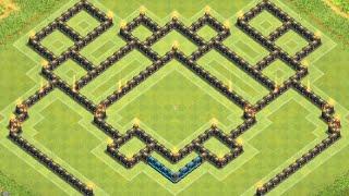 getlinkyoutube.com-Clash of Clans - Epic TH9 Trophy/War Base