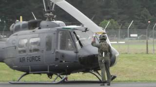 getlinkyoutube.com-RNZAF BELL UH-1H HUEY NZ3816 START UP - TAKE OFF - HAMILTON