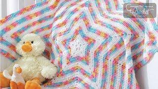 getlinkyoutube.com-How to Crochet A Baby Blanket: Baby Star Afghan