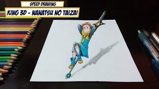 getlinkyoutube.com-Drawing King 3D - Nanatsu no Taizai (The Seven Deadly Sins)