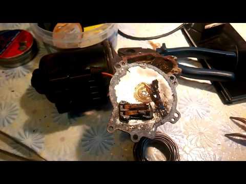 OPEL ASTRA F Ремонт двигателя стеклоочистителя контактов редуктора