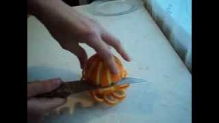 getlinkyoutube.com-Украшение для стола из апельсина.