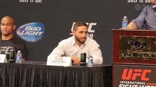 getlinkyoutube.com-UFC 189 pre-fight press conference highlights with Conor McGregor, Chad Mendes