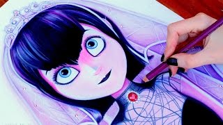 getlinkyoutube.com-HOTEL TRANSYLVANIA 2 Drawing MAVIS ♡ WEDDING DRESS