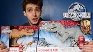 getlinkyoutube.com-Indominus VS T.Rex - Hasbro Review and Unboxing