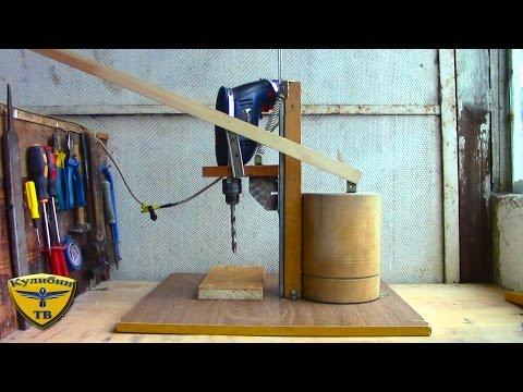 самодельная дрель деревянная