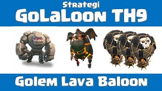 getlinkyoutube.com-Strategi War GoLaLon TH9 vs max deff TH9 (Hybrid Attack TH9)