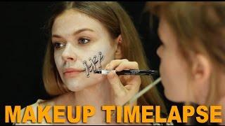 getlinkyoutube.com-Sally Makeup by Jody Steel- A Nightmare Before Christmas Timelapse Drawing