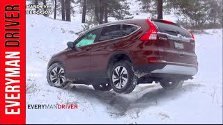 getlinkyoutube.com-SNOWY Off-Road Review #1: 2015 Honda CR-V AWD on Everyman Driver