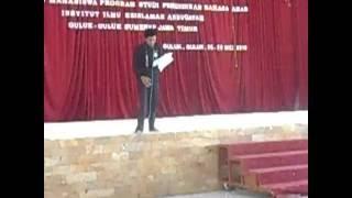 getlinkyoutube.com-Juara 1 Lomba Baca Puisi Bahasa Arab Se Madura, PBA Instika oleh Moh  Syarif Hidayatullah