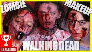 getlinkyoutube.com-WALKING DEAD ZOMBIE FACE PAINT CHALLENGE!  SFX COSTUME MAKEUP 4 HALLOWEEN OR COSPLAY! |  KITTIESMAMA