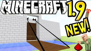 "getlinkyoutube.com-MineCraft 1.9 SnapShot: Retractable Draw Bridges In Vanilla! ""SnapShot 15w45a"" Contraption!"