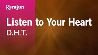 getlinkyoutube.com-Karaoke Listen To Your Heart (piano version) - D.H.T. *
