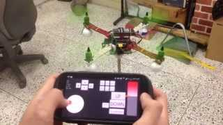 getlinkyoutube.com-Arduino Quadcopter 3Axis Jig Test by Android phone (PID Tuning)