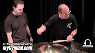 "getlinkyoutube.com-Zildjian 22"" Rarities K Dark Thin Ride Cymbal - Played by Leon Chiapinni (K0874-1101711G)"