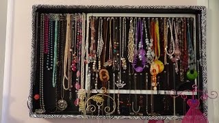 getlinkyoutube.com-Organizador grande para pared, de collares.