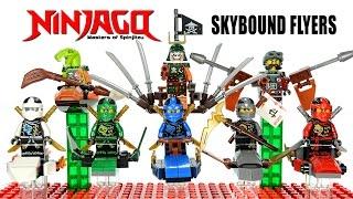 getlinkyoutube.com-Ninjago Airjitzu 2016 Skybound Flyers LEGO KnockOff Minifigures w/ Lloyd Jay Kai Cole & Zane Set 31