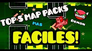 getlinkyoutube.com-TOP 5 MAP PACKS MÁS FÁCILES! Geometry Dash [1.9] - Bycraftxx