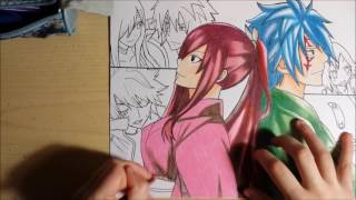 getlinkyoutube.com-Speed drawing - Fairy Tail (Jellal & Erza)
