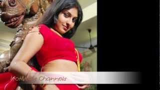 'Hot Monica' in Red Saree