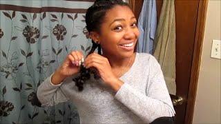 getlinkyoutube.com-Taking My Braids Down | Stylin Dirty Hair til Wash Day!