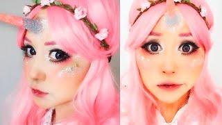 getlinkyoutube.com-CONVIERTETE EN UNICORNIO ♥ maquillaje miku